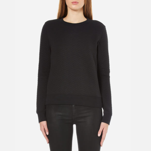 Superdry Women s Quilted Nordic Crew Neck Sweatshirt - Black  Image 1 104dfcfb0c