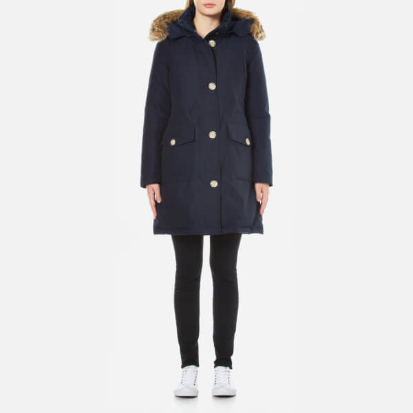Woolrich Women's Long Arctic Parka - Melton Blue