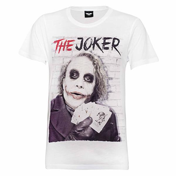 T-Shirt Homme DC Comics Batman Joker Cards - Blanc