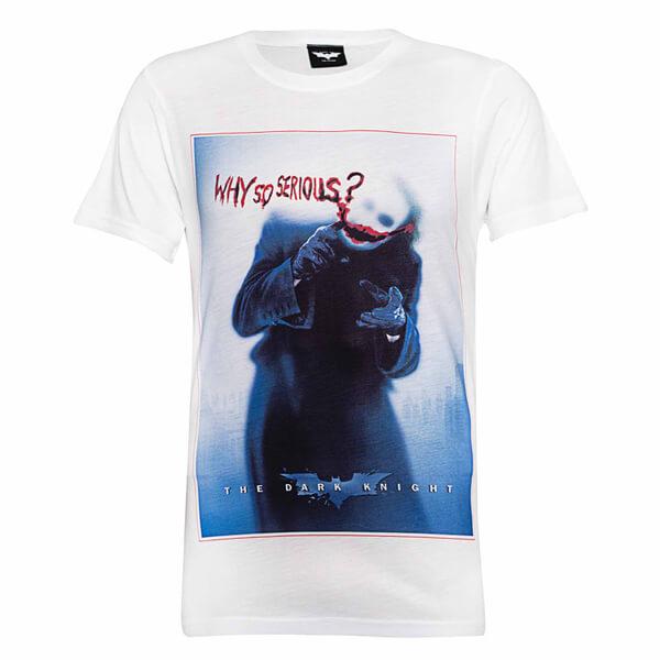 T-Shirt Homme DC Comics Batman Le Joker Why So Serious - Blanc