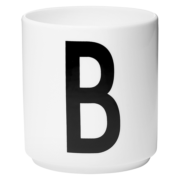 Design letters porcelain cup b sowia for Kuchenzubehor design
