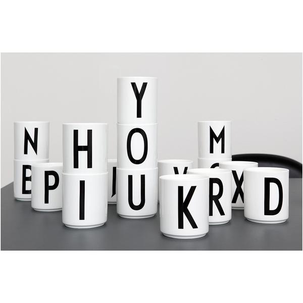 Design letters porcelain cup n sowia for Kuchenzubehor design