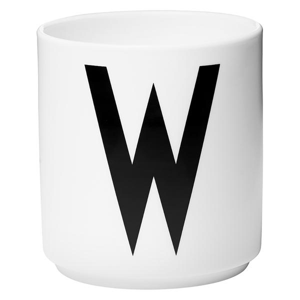 Design Letters Porcelain Cup - W