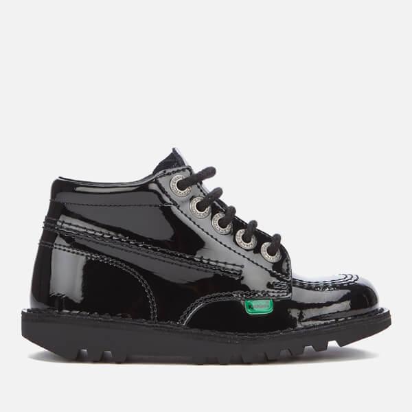 Kickers Kids' Kick Hi Patent Boots - Black