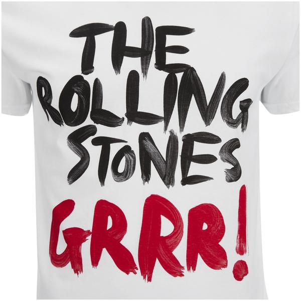 Rolling Stones Mens Logo Grrr T Shirt Wit Zavvi Nl