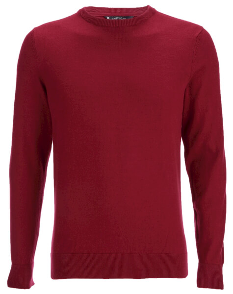 Kensington Eastside Men's Balint Crew Neck Jumper - Rumba Red