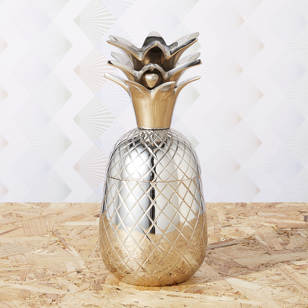 Pineapple Storage Pot/Tumbler - Stainless Steel