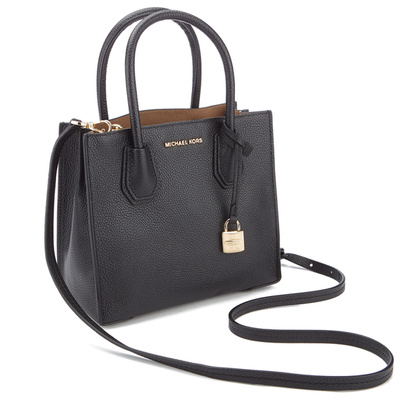 MICHAEL MICHAEL KORS Women s Mercer Mid Messenger Tote Bag - Black  Image 3 d783da760237d