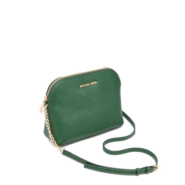 d2e1d5b3c8ba5c MICHAEL MICHAEL KORS Women's Cindy Large Dome Cross Body Bag - Moss: Image 2
