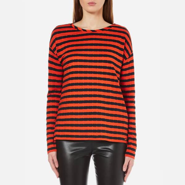 BOSS Orange Women's Tibow Striped Top - Multi