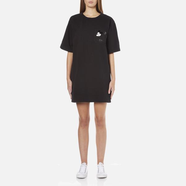 Marc Jacobs Women's T-Shirt Dress with Emblem - Black