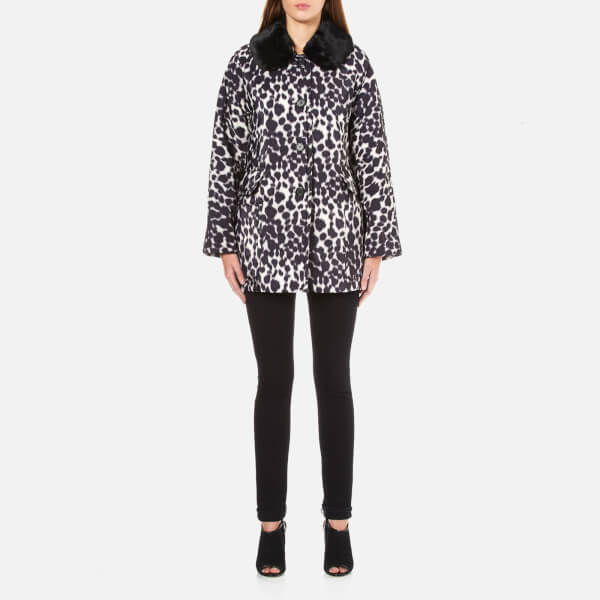 Marc Jacobs Women's Cropped Jacket with Fur Collar - Ivory/Multi