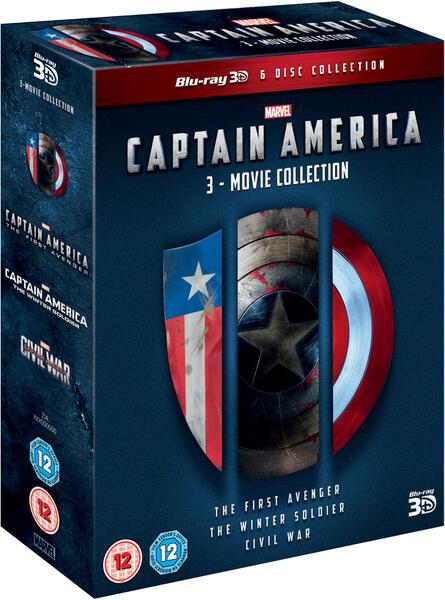 Captain America 1 3 Boxset 3d Blu Ray Zavvi