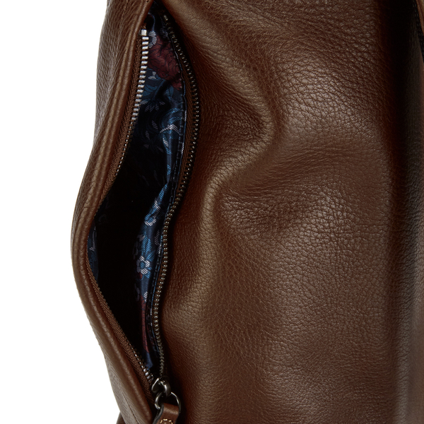 60da5be9806a52 Ted Baker Men s Earth Leather Backpack - Dark Tan  Image 7