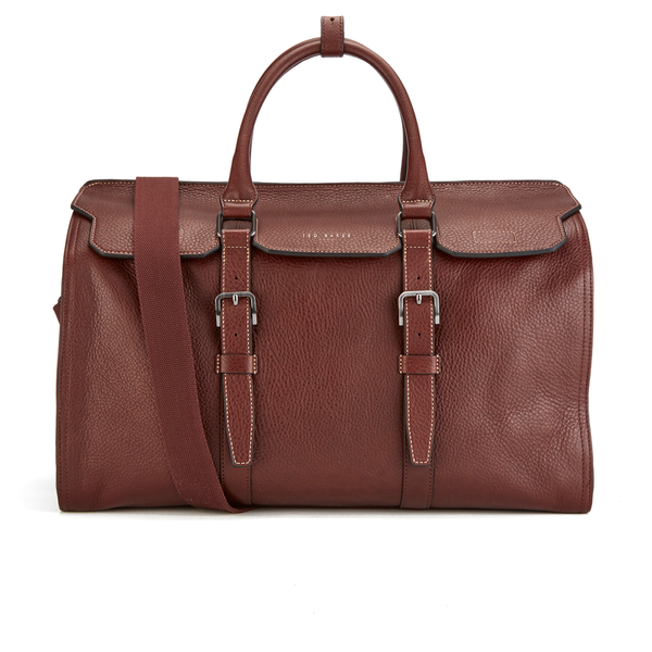 a7fc7f24642fc8 Ted Baker Men s Shalala Leather Holdall Bag - Tan  Image 1