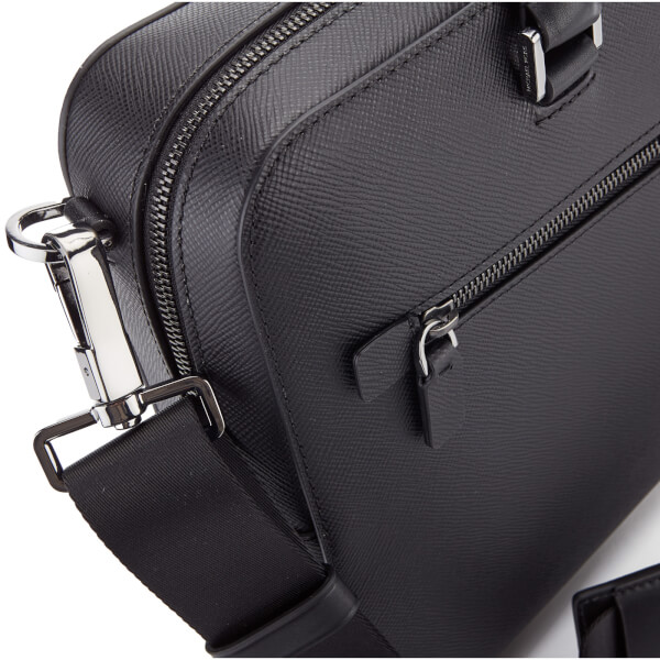 62761dc00c Michael Kors Men s Harrison Medium Front Zip Briefcase - Black  Image 4