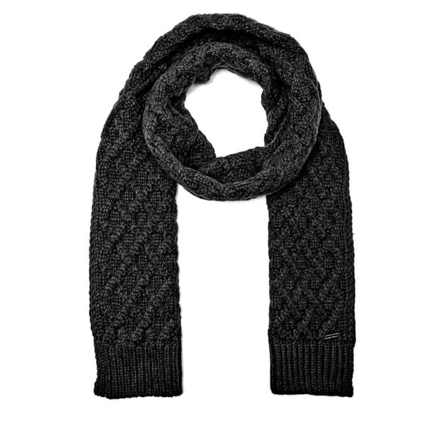 Michael Kors Men's Cable Knit Scarf - Black