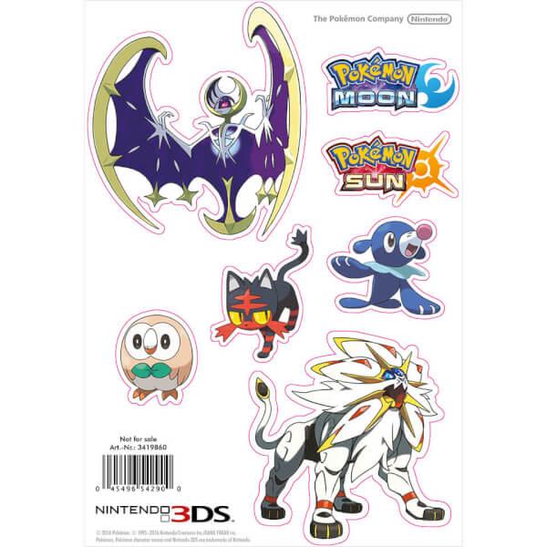 Pokémon Sun and Pokémon Moon Sticker Sheet