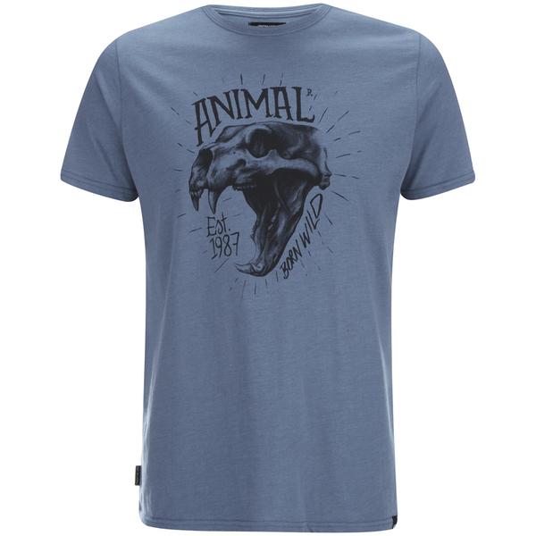 Animal Men's Wild T-Shirt - Cadet Navy Marl