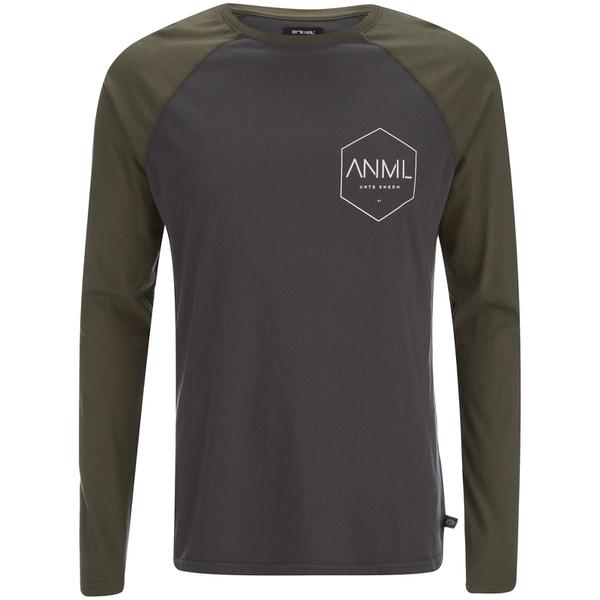 Camiseta manga larga Animal Mono - Hombre - Gris asfalto
