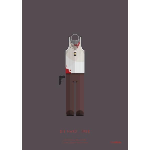 Die Hard Costume Art Print - 14 x 11