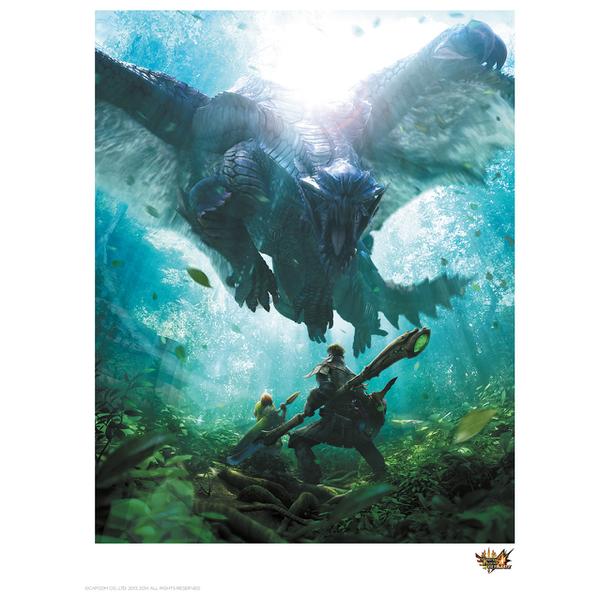 Monster Hunter 'Encounter' Art Print - 14 x 11