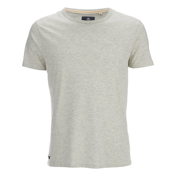 Threadbare Men's William Plain Crew Neck T-Shirt - Ecru Marl
