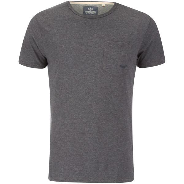 T-Shirt Homme Threadbare Jack Pocket - Gris Foncé