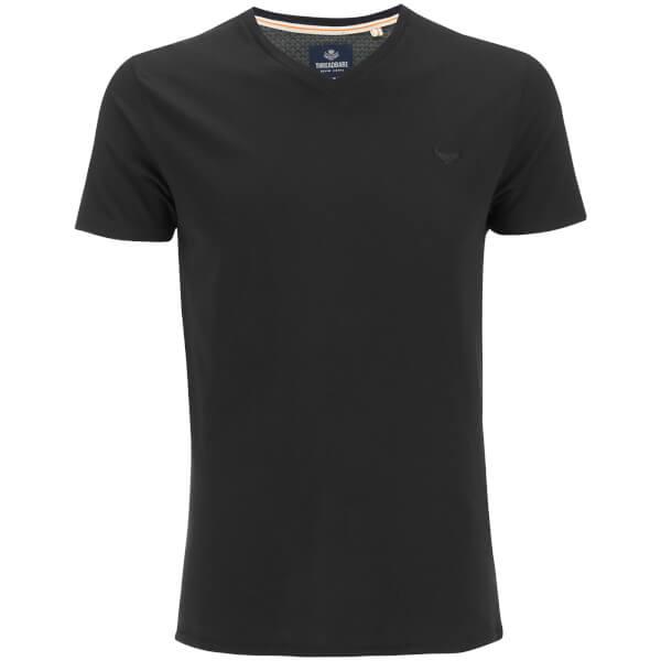 Threadbare men 39 s charlie plain v neck t shirt black for Mens plain v neck t shirts
