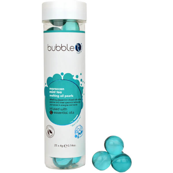 Bubble T Bath & Body - Bath Pearls 25 x 4g (Moroccan Mint Tea)