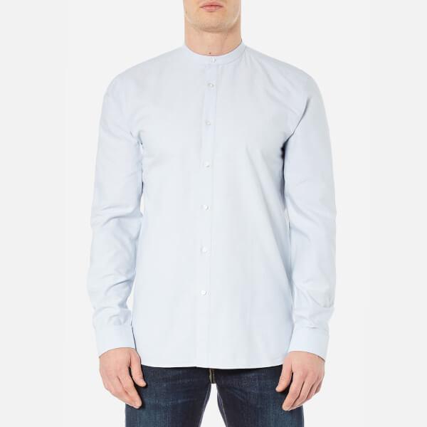 HUGO Men's Edoug Grandad Collar Shirt - Pastel Blue