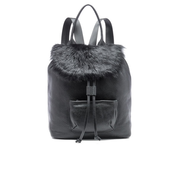 Elizabeth and James Women's Langley Fur Backpack - Black