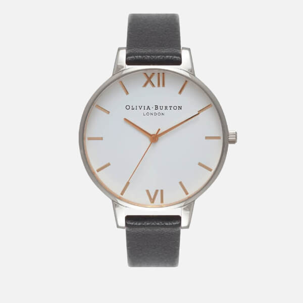 Olivia Burton Women's White Big Dial Watch - Black/Silver/Gold