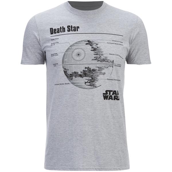 T-Shirt Homme Star Wars l'Étoile de la Mort - Chiné