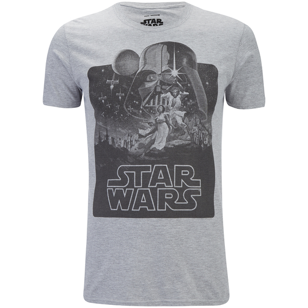 Star Wars New Hope Mono Heren T-Shirt - Grijs