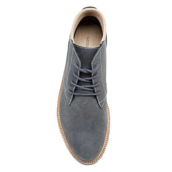 1159ae8c13f93c Lacoste Men s Montbard Chukka 416 1 Boots - Dark Grey Mens Footwear ...