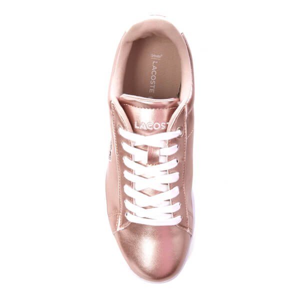 fb1e12b3c9bc Lacoste Women s Carnaby Evo 316 2 Trainers - Light Pink  Image 3