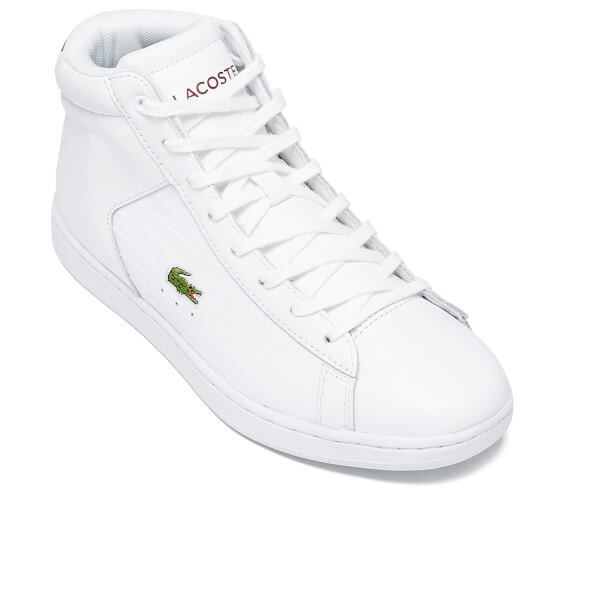 b6219dcee103b Lacoste Women s Carnaby Evo Mid G316 2 Hi-Top Trainers - White Red ...