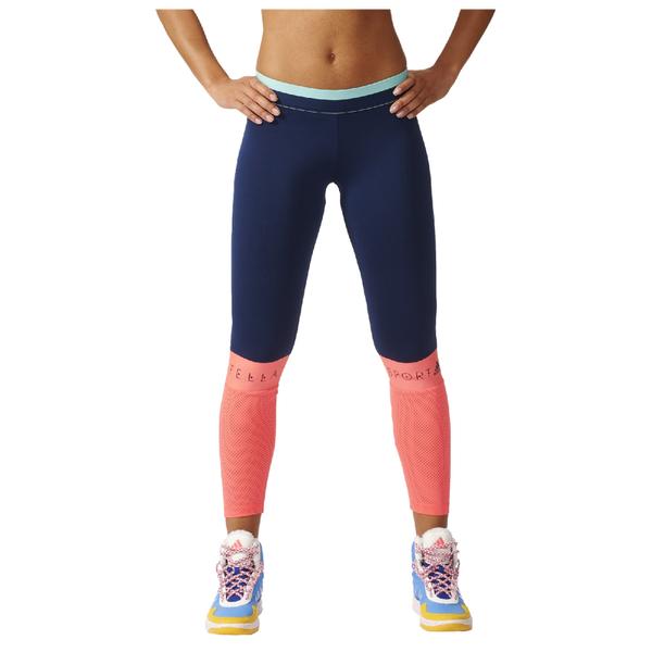 adidas Women s Stella Sport Long Mesh Training Tights - Blue Pink  Image 1 9e6a1cb887