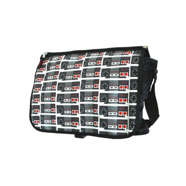 NES Classic Controller Reversible Flap Messenger Bag