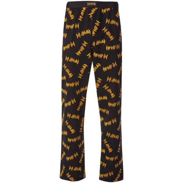 Def Leppard Men's Lounge Pants - Black