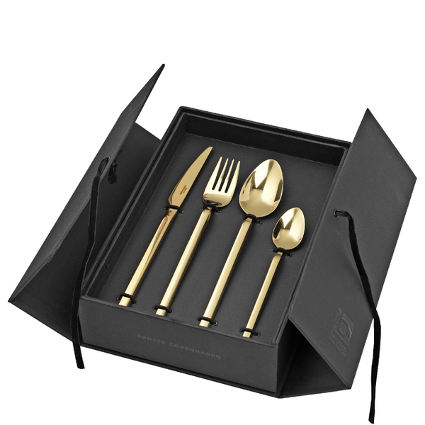broste copenhagen tvis gold cutlery set homeware. Black Bedroom Furniture Sets. Home Design Ideas
