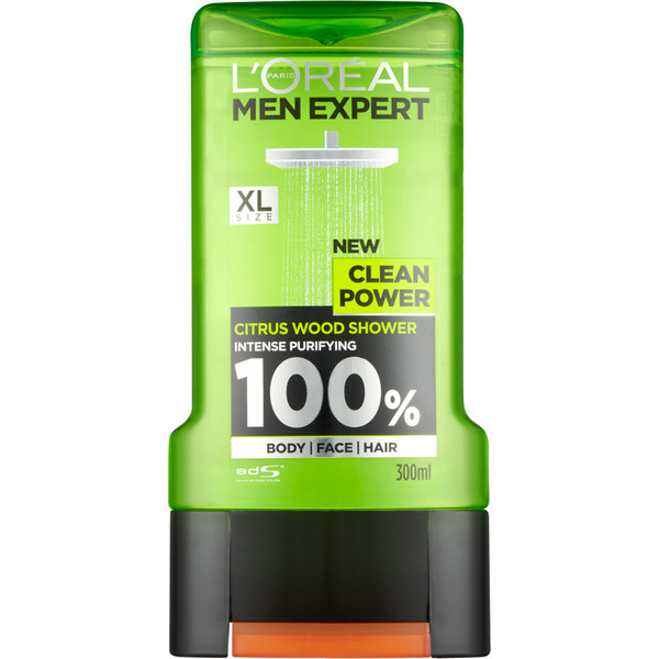 Lu0027Oréal Paris Men Expert Clean Power Shower Gel 300ml: Image 1
