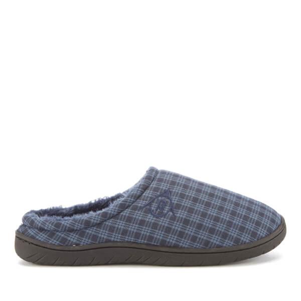 Dunlop Men's Absolon Check Slippers - Navy