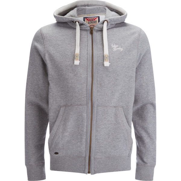 Tokyo Laundry Men's Wood River Zip Through Hoody - Light Grey Marl