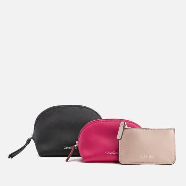 Calvin Klein Women's M4Rissa 3-in-1 Cosmetic Bag - Black
