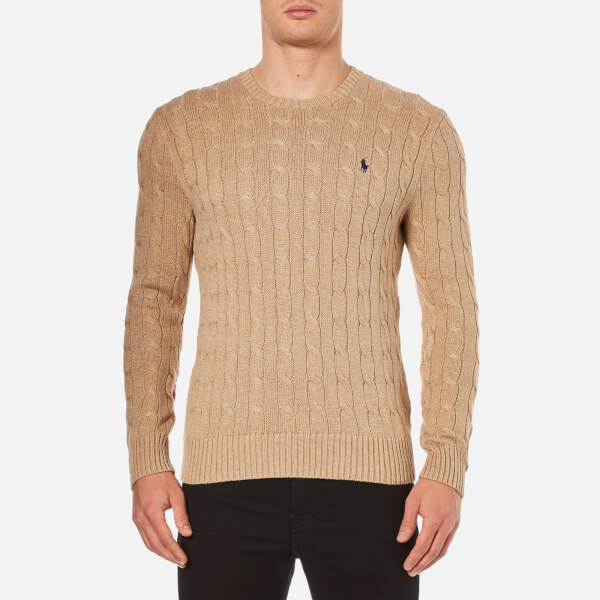 ralph lauren camel jumper ralph lauren denim shirt