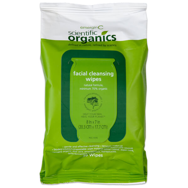 EmerginC Scientific Organics Facial Cleansing Wipes