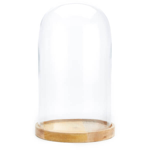 Nkuku Recycled Inu Decorative Large Glass Dome