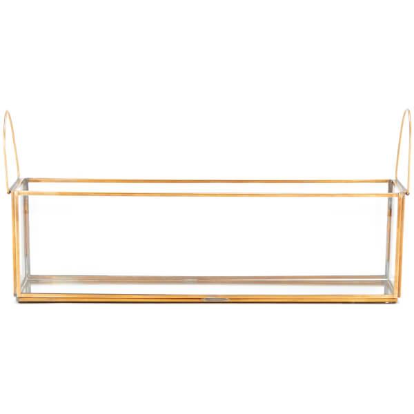 Nkuku Bequai T-Light Box 36.5 x 11cm - Antique Brass